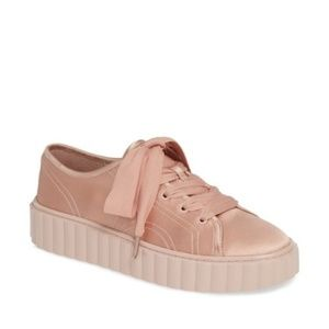 Tory Burch Scallop Cotton & Silk Sneaker